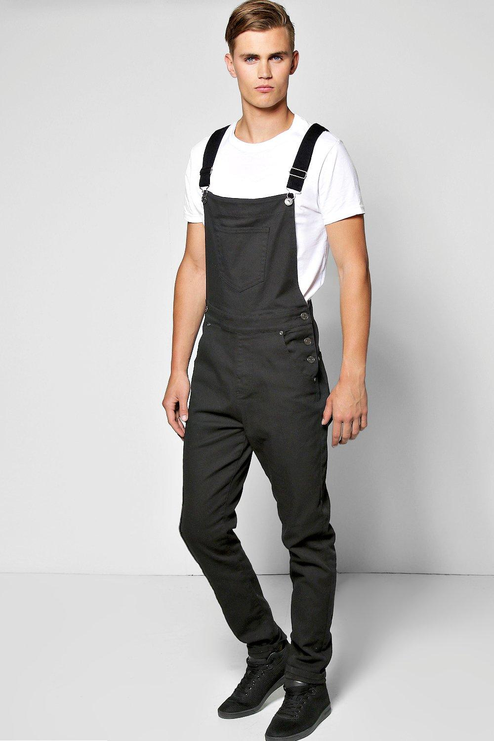 slim fit denim dungarees at. Black Bedroom Furniture Sets. Home Design Ideas