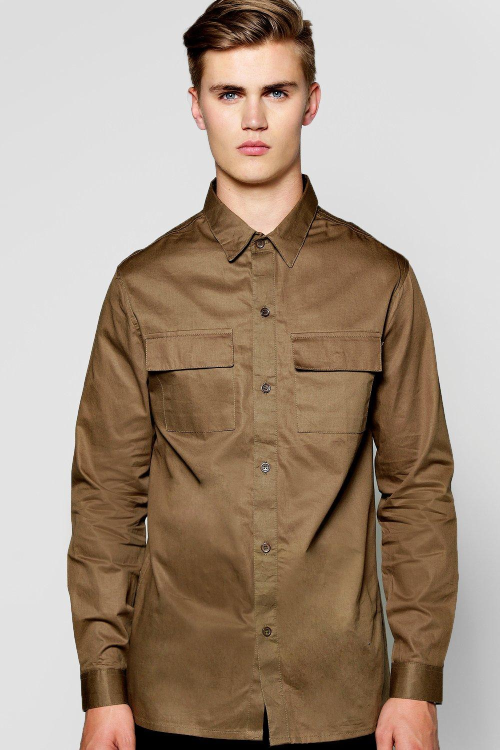 Cotton Canvas Utility Overshirt