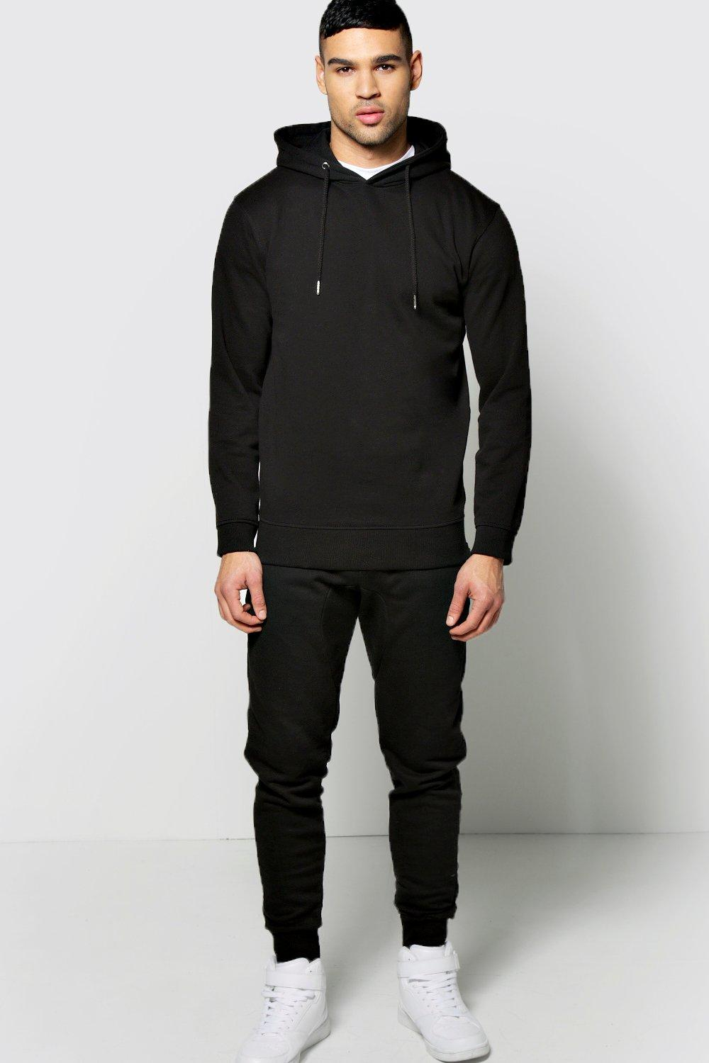 Skinny Hooded Tracksuit With Zip Details
