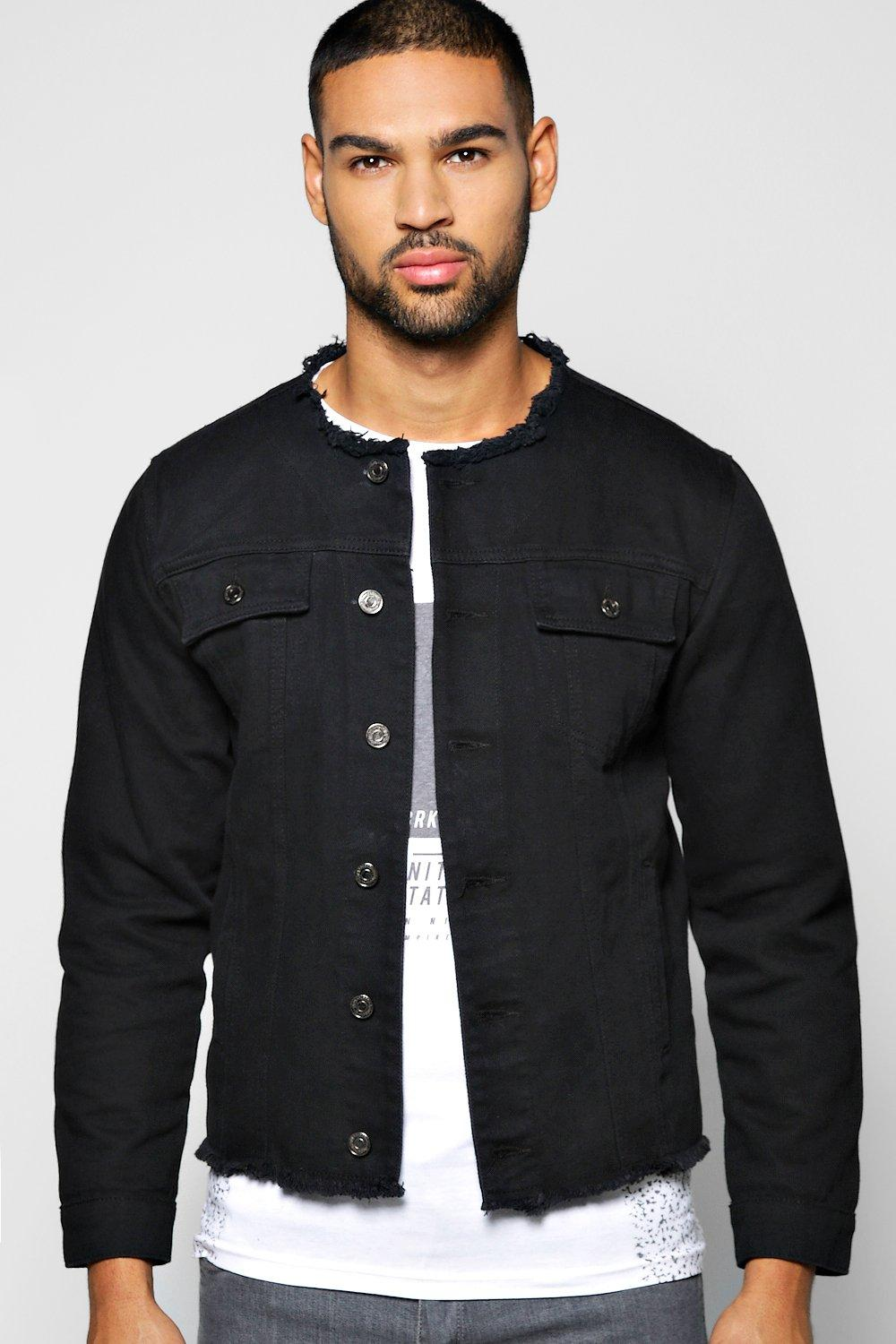 Raw Edge Denim Jacket