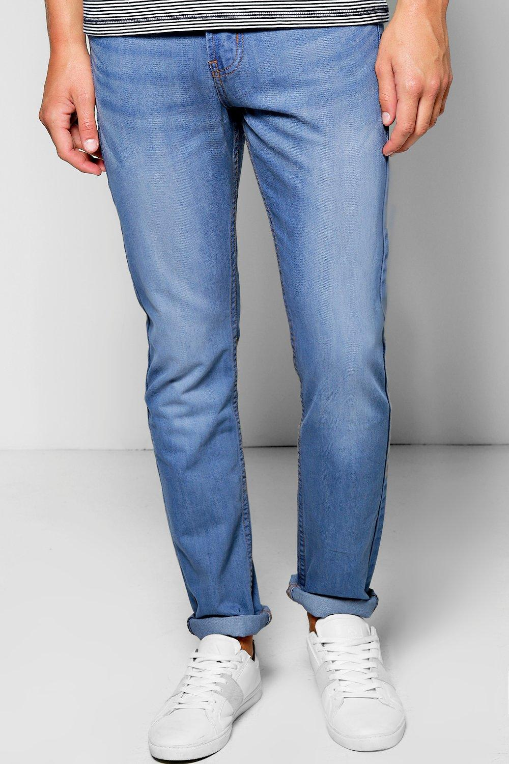 Pale Blue Washed Slim Fit Jeans