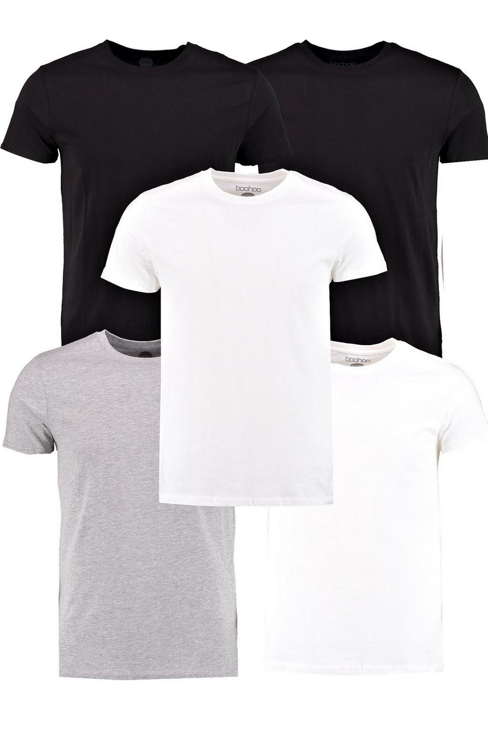 5 Pack Slim Fit TShirts