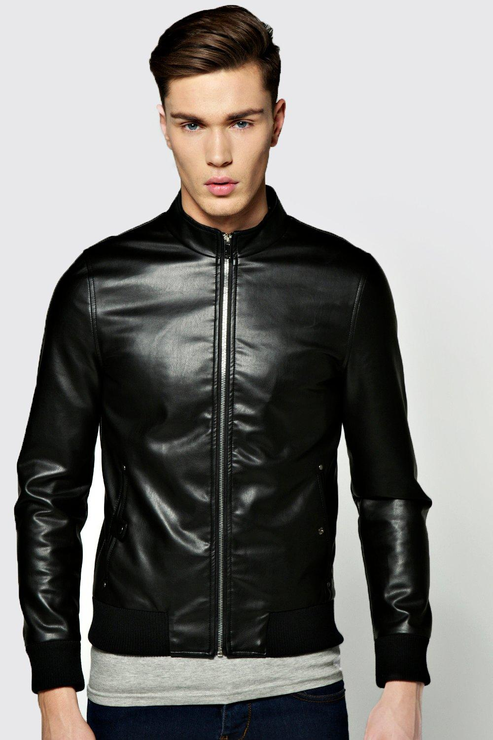 Black Pu Jacket - JacketIn
