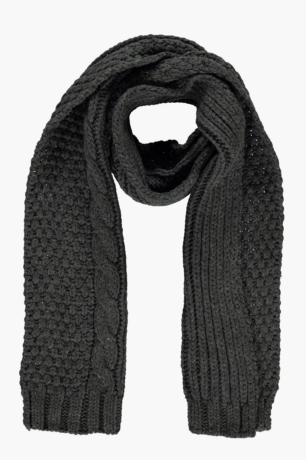Cable Knit Luxe Scarf