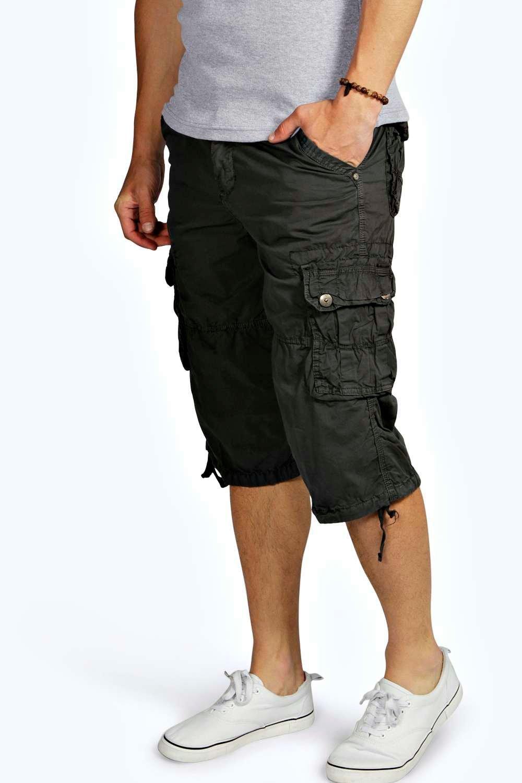 3/4 Cargo Shorts at boohoo.com