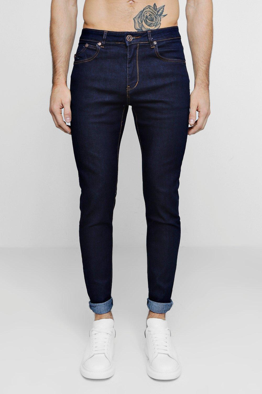 Raw Indigo Skinny Smart Jeans at boohoo.com