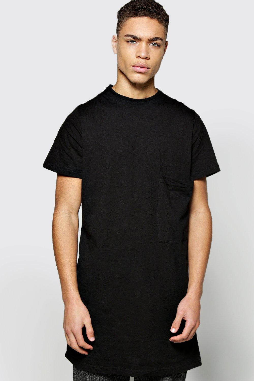Oversized Pocket Longline T Shirt