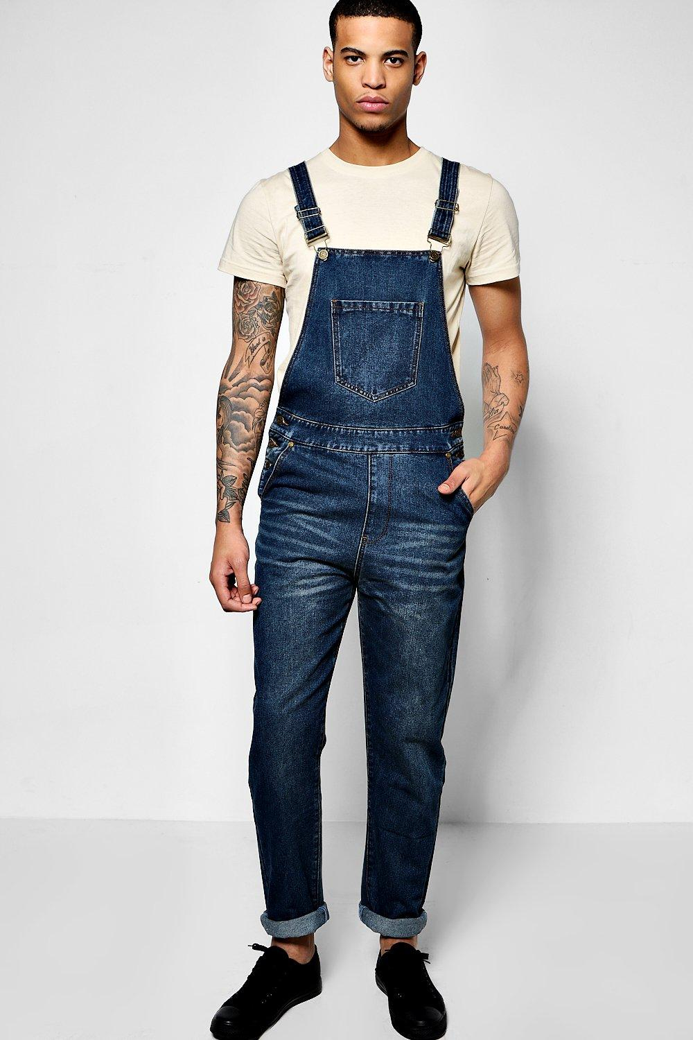 Dark Washed Dungaree
