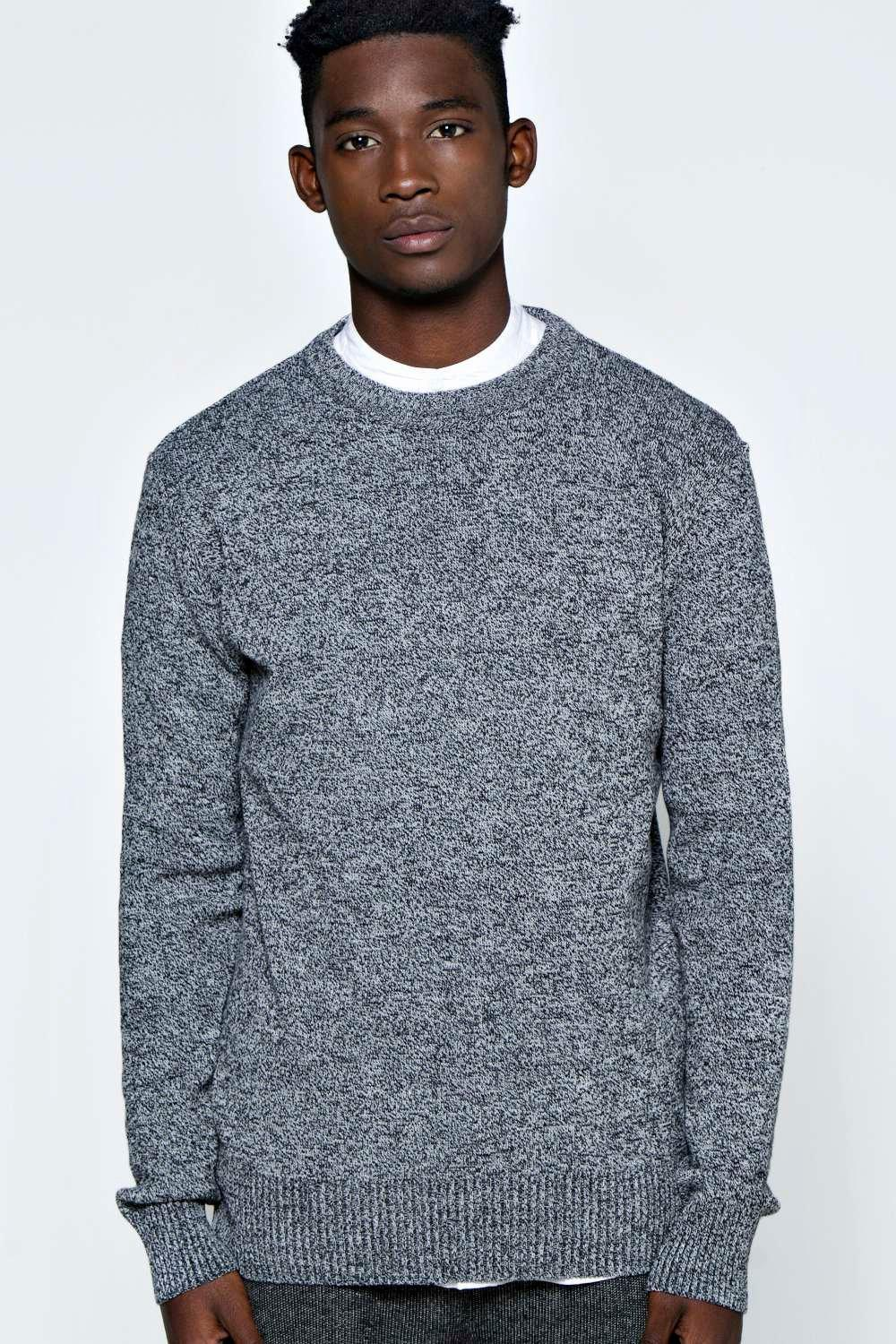 Basic Oversized Marl Jumper