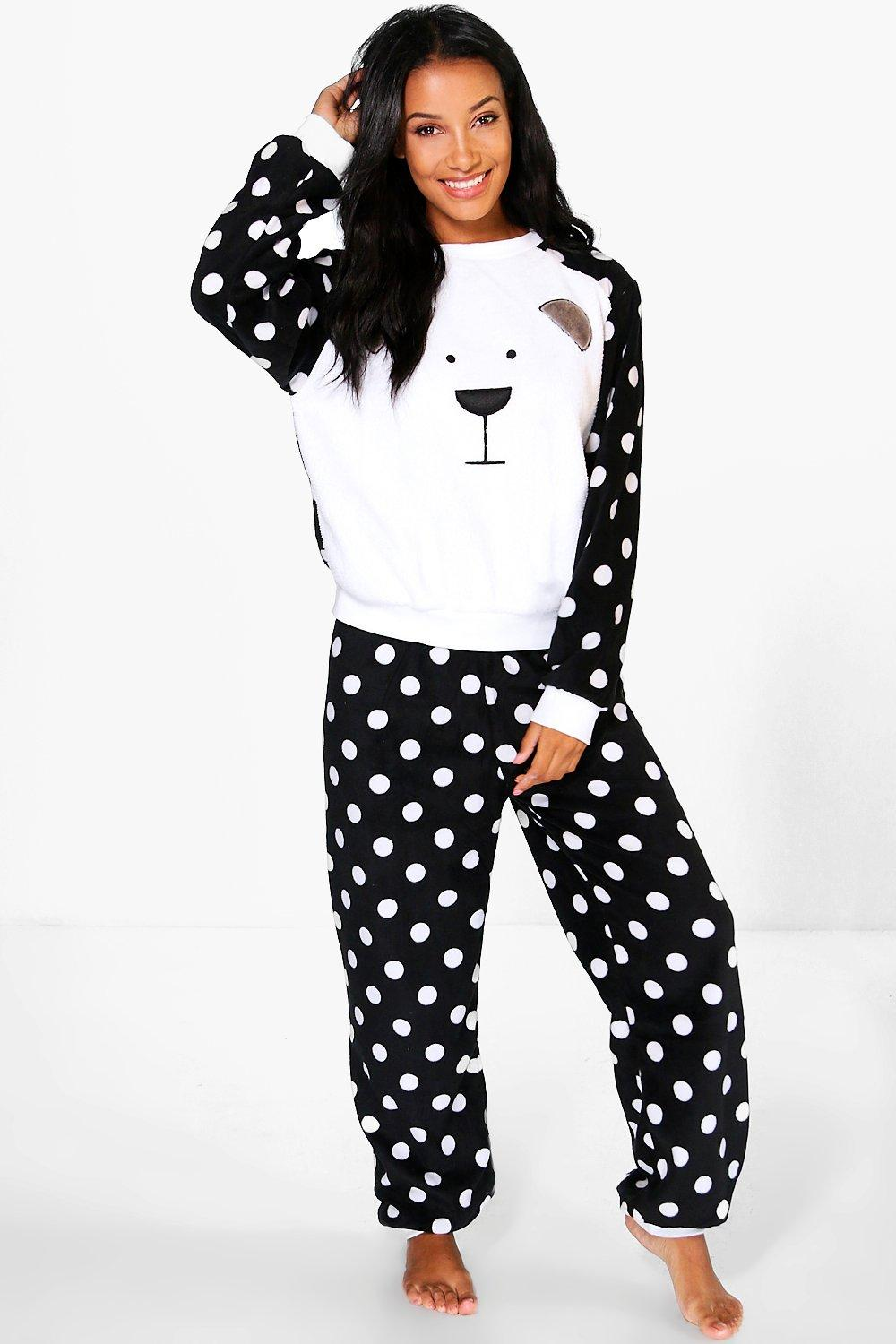Laura Polar Bear Fleece Trouser PJ Set