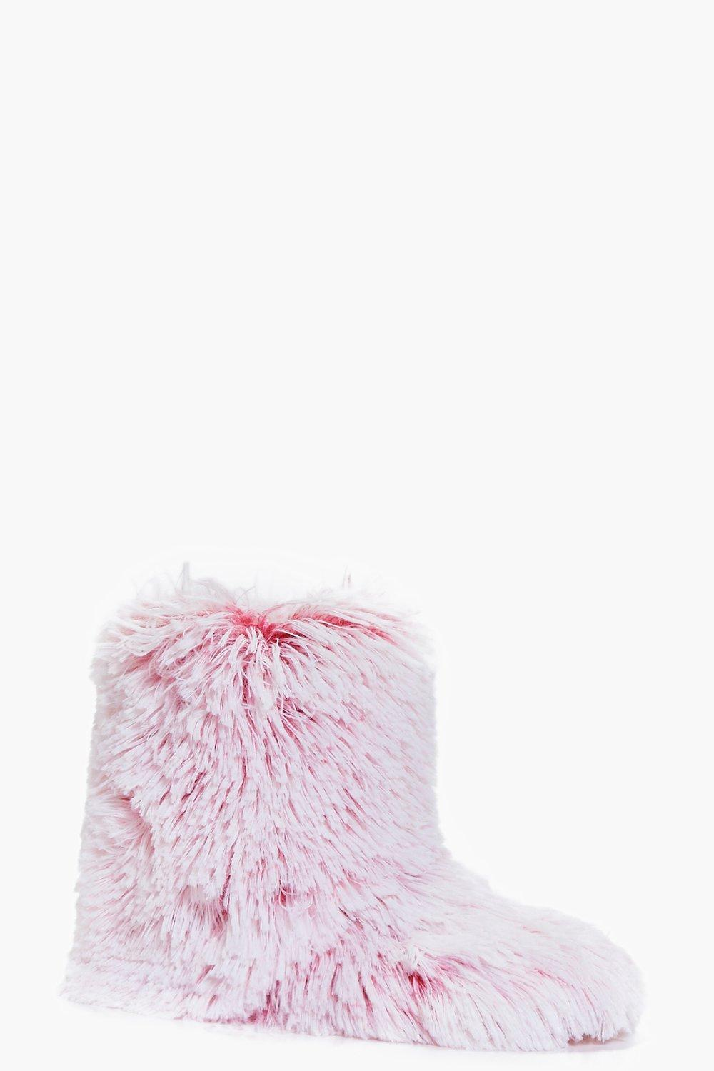 Maddison Faux Fur Slipper Boots