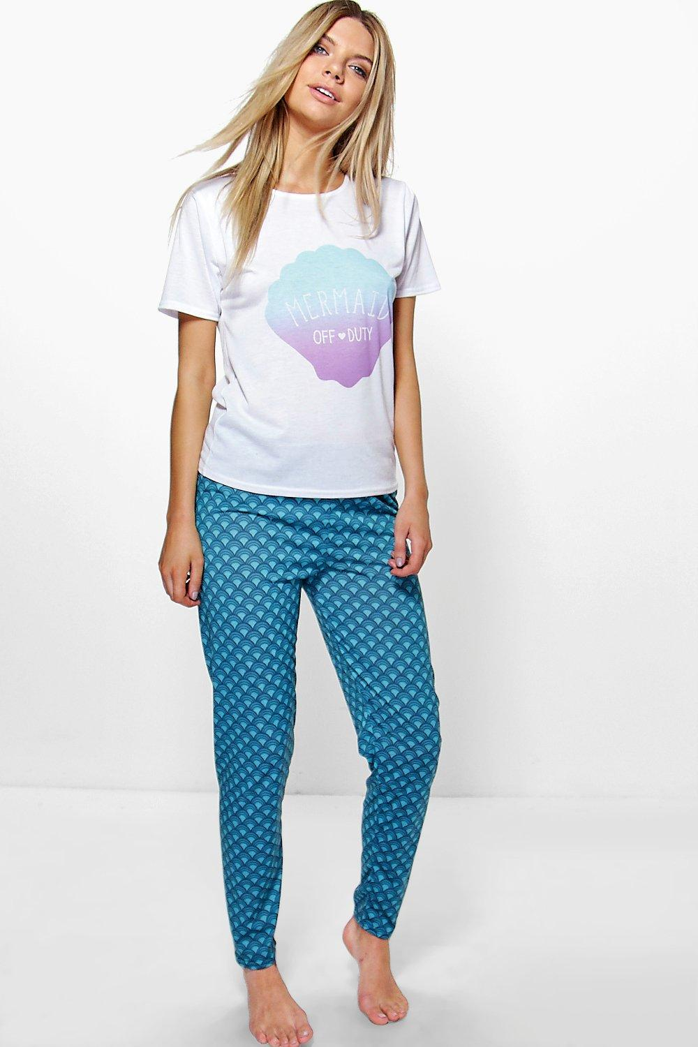 Lara Off Duty Mermaid Tee and Jogger PJ Set