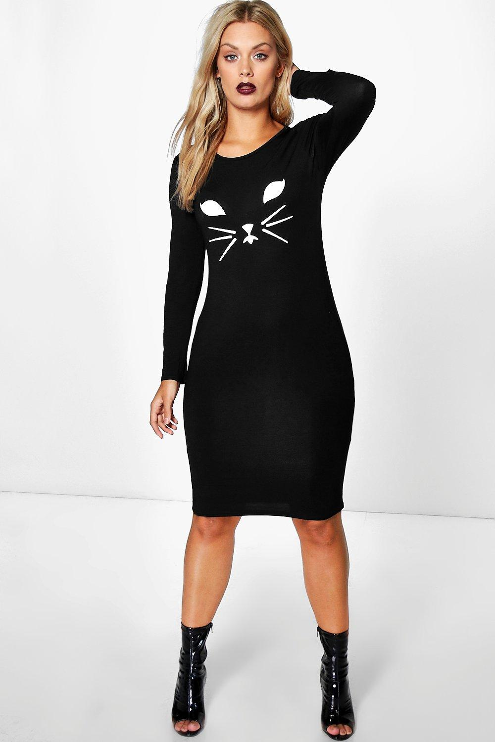 Plus Laura Cat Face Halloween Dress