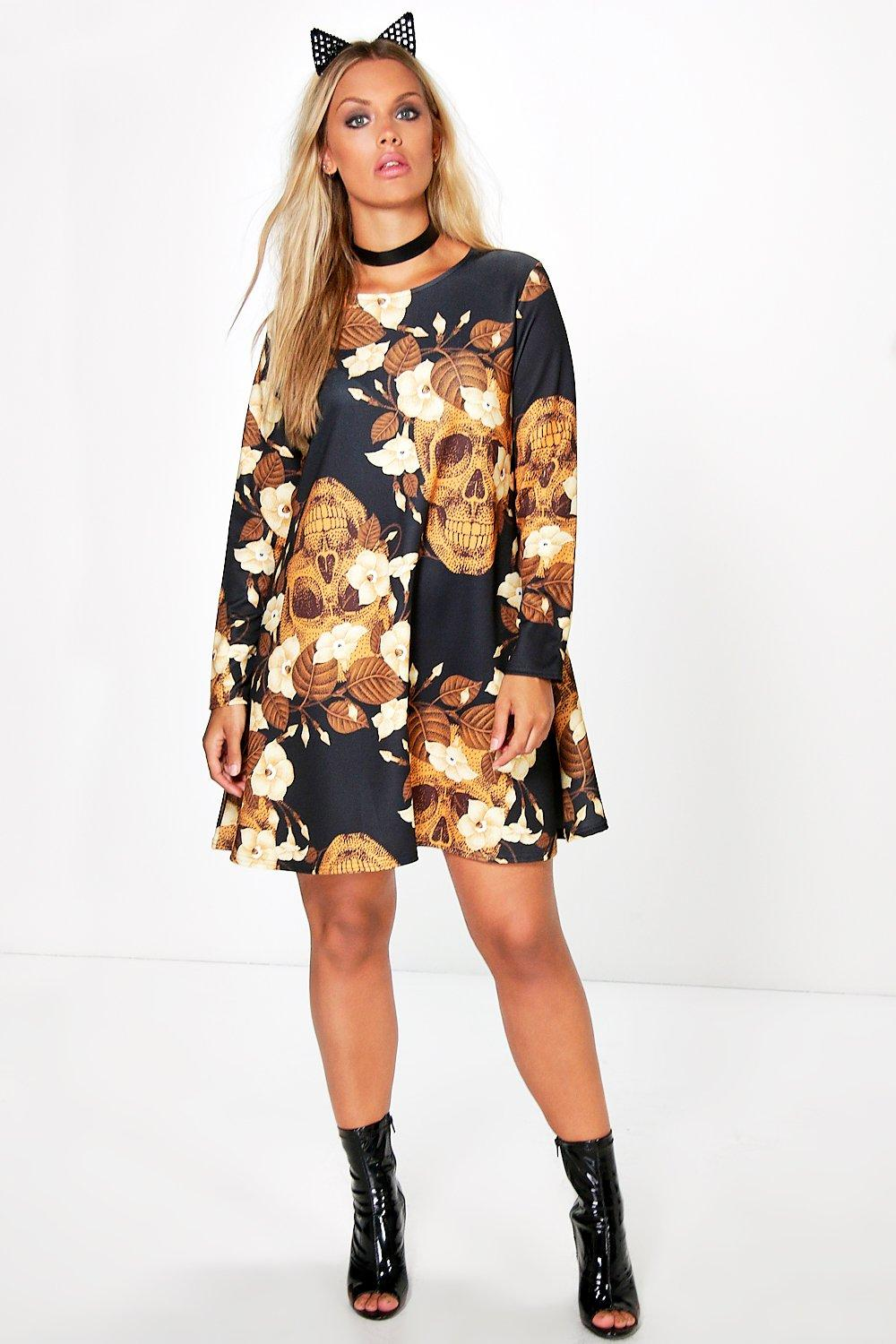 Plus Gemma Skull Halloween Dress