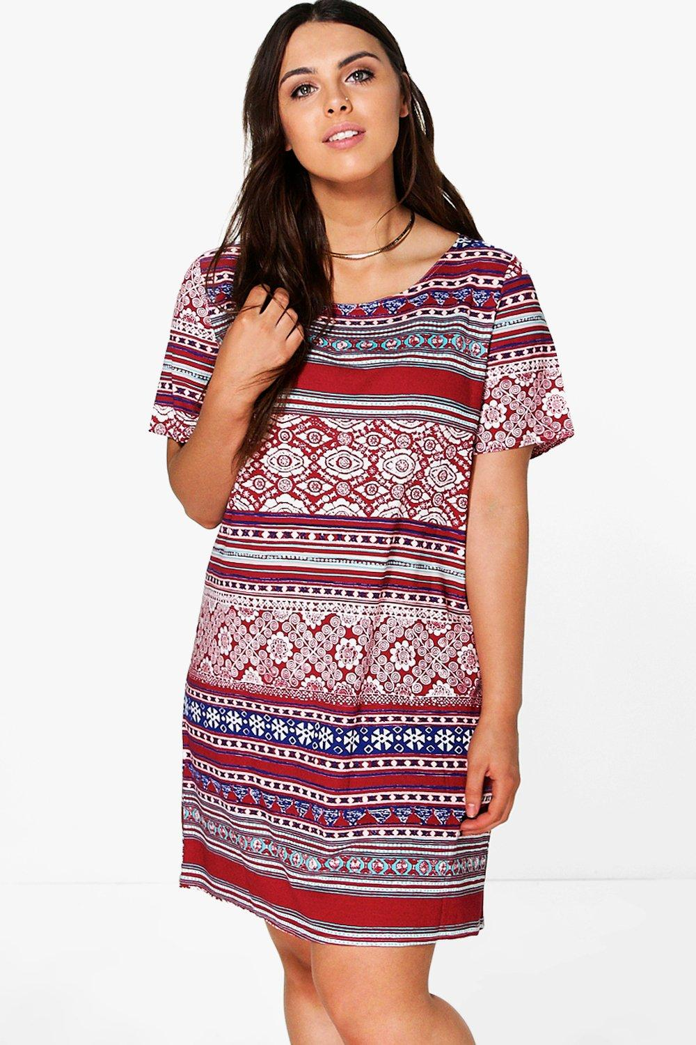 Plus Thea Aztec Shift Dress