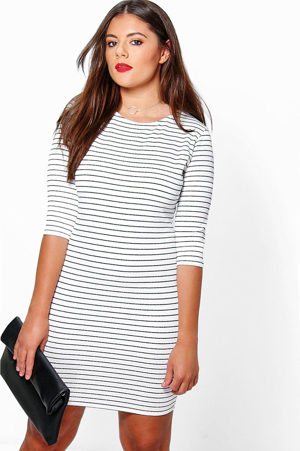 Plus Lily Stripe Bodycon Dress