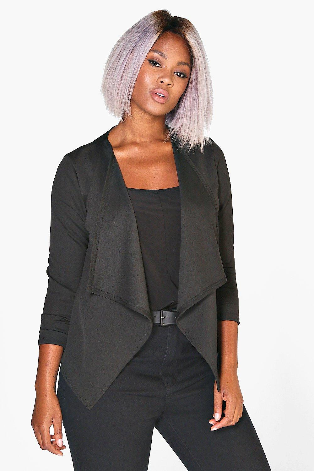 Plus Tasha Waterfall Blazer