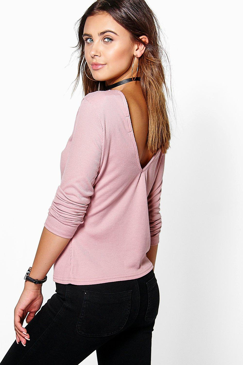 Petite Lisa V Back Knitted Top