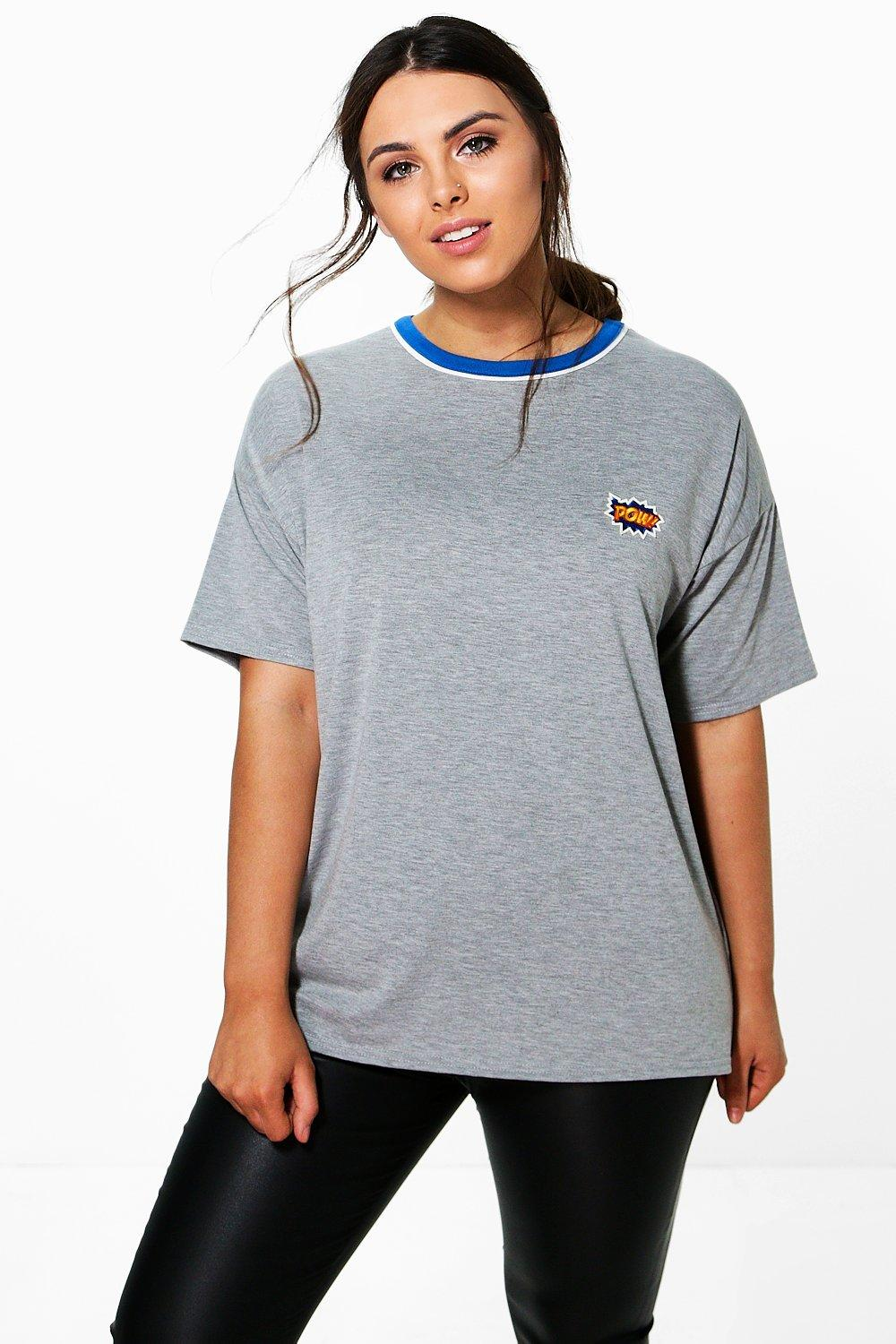 Plus Amanda 'Pow' Badge Binding Tee