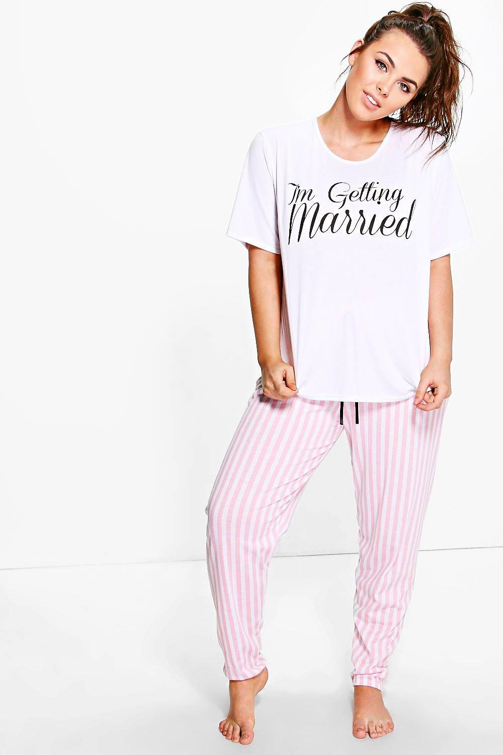 Plus Nieve Getting Married Trouser Pyjama Set