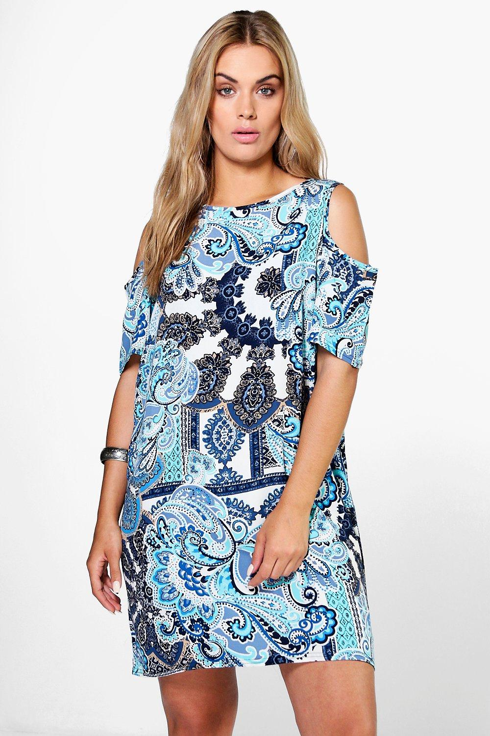 Plus Indi Cold Shoulder Shift Dress