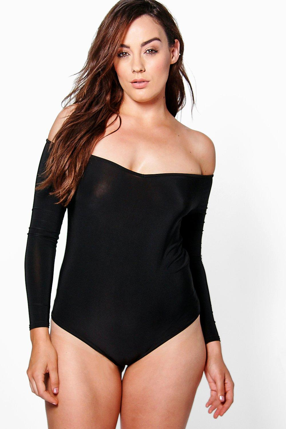 Plus Aileen Off The Shoulder Bodysuit