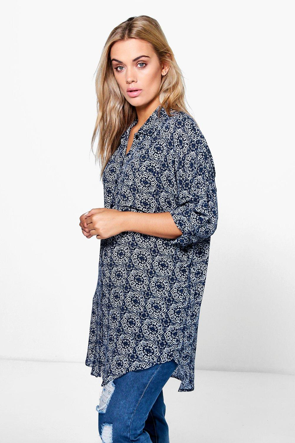 Plus Dixie Oversized Shirt