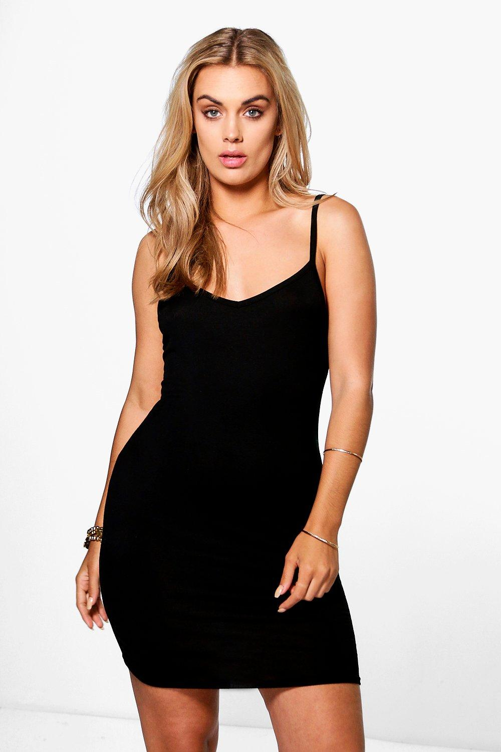 Plus Andrea Strappy Mini Bodycon Dress