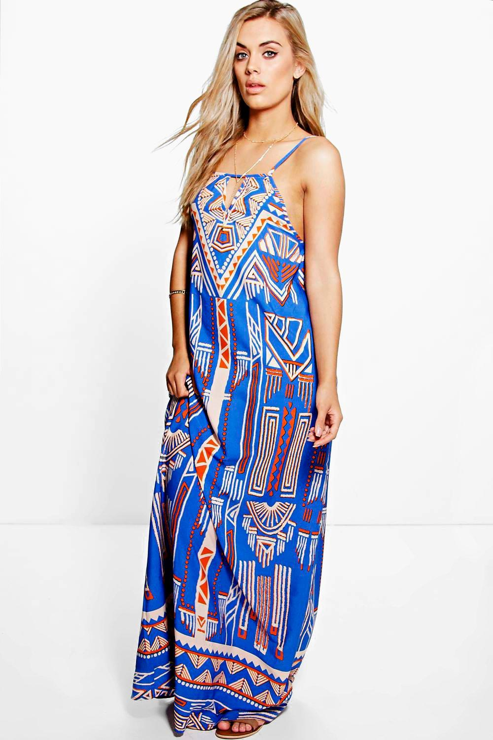 Plus Jane Printed Woven Maxi Dress