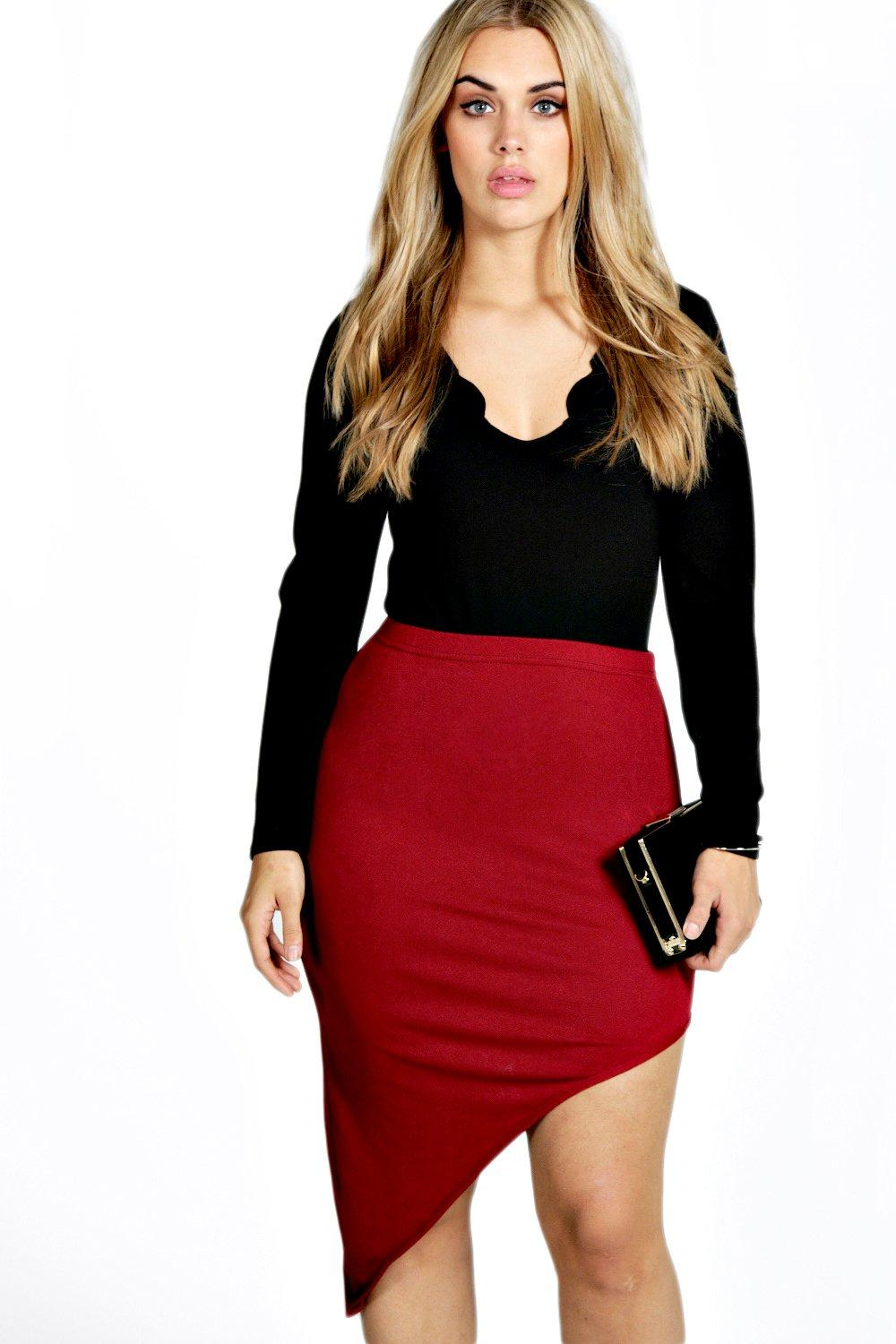 Plus Katie Asymmetric Skirt