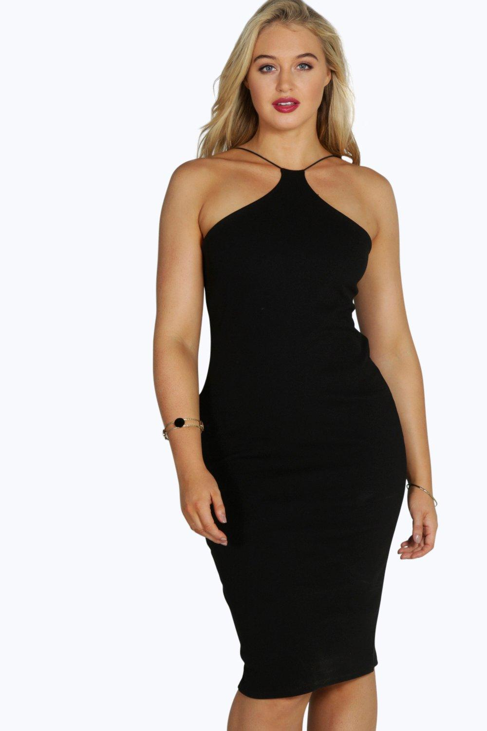 Plus eliza strappy midi dress at for Boohoo dresses for weddings