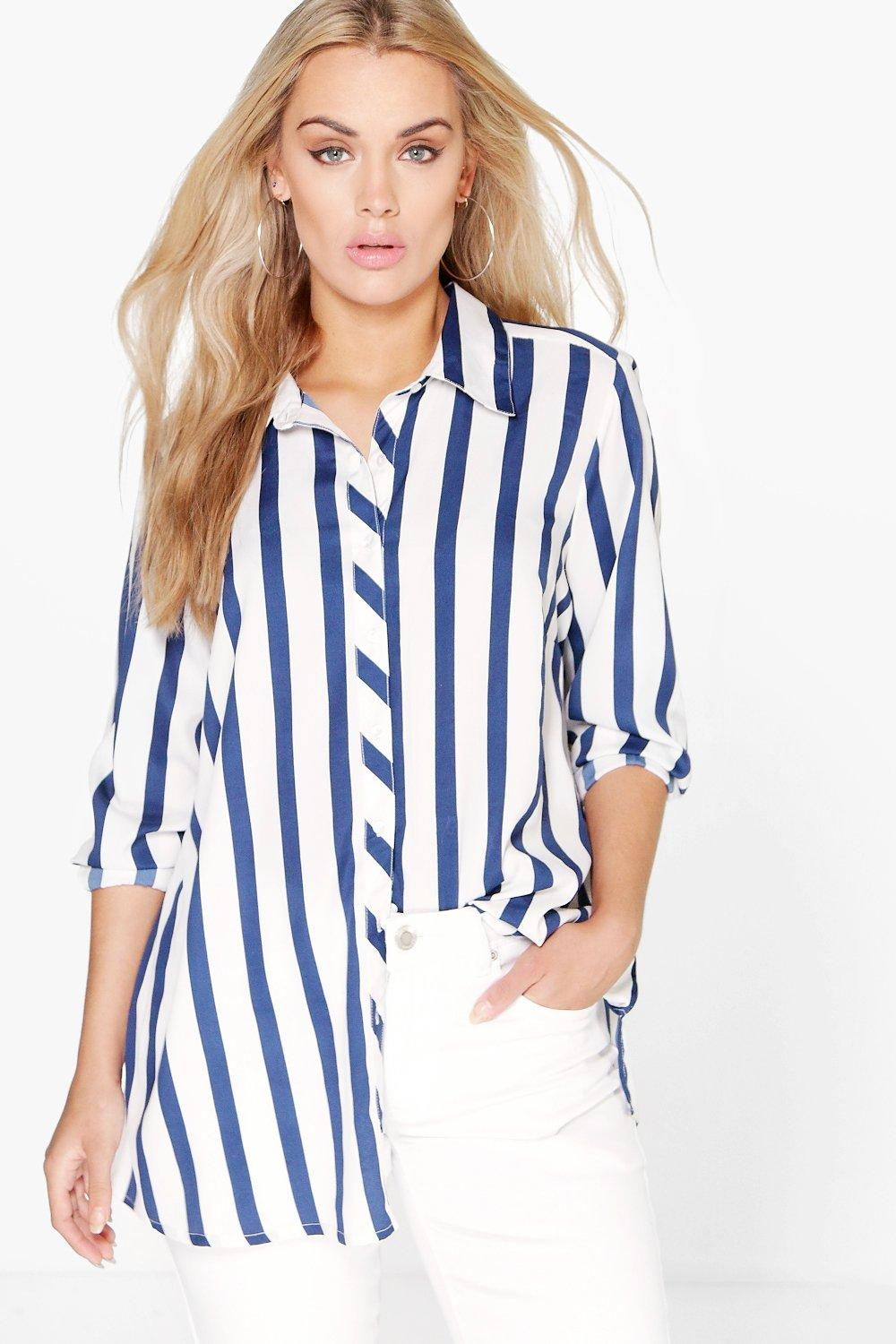 Plus Freya Striped Woven Shirt