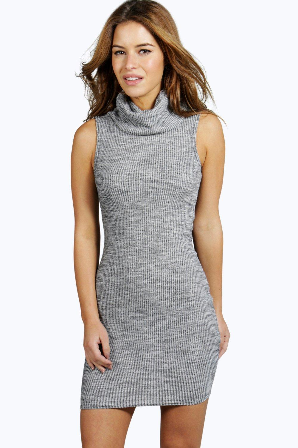 Petite Molly Cowl Neck Midi Dress