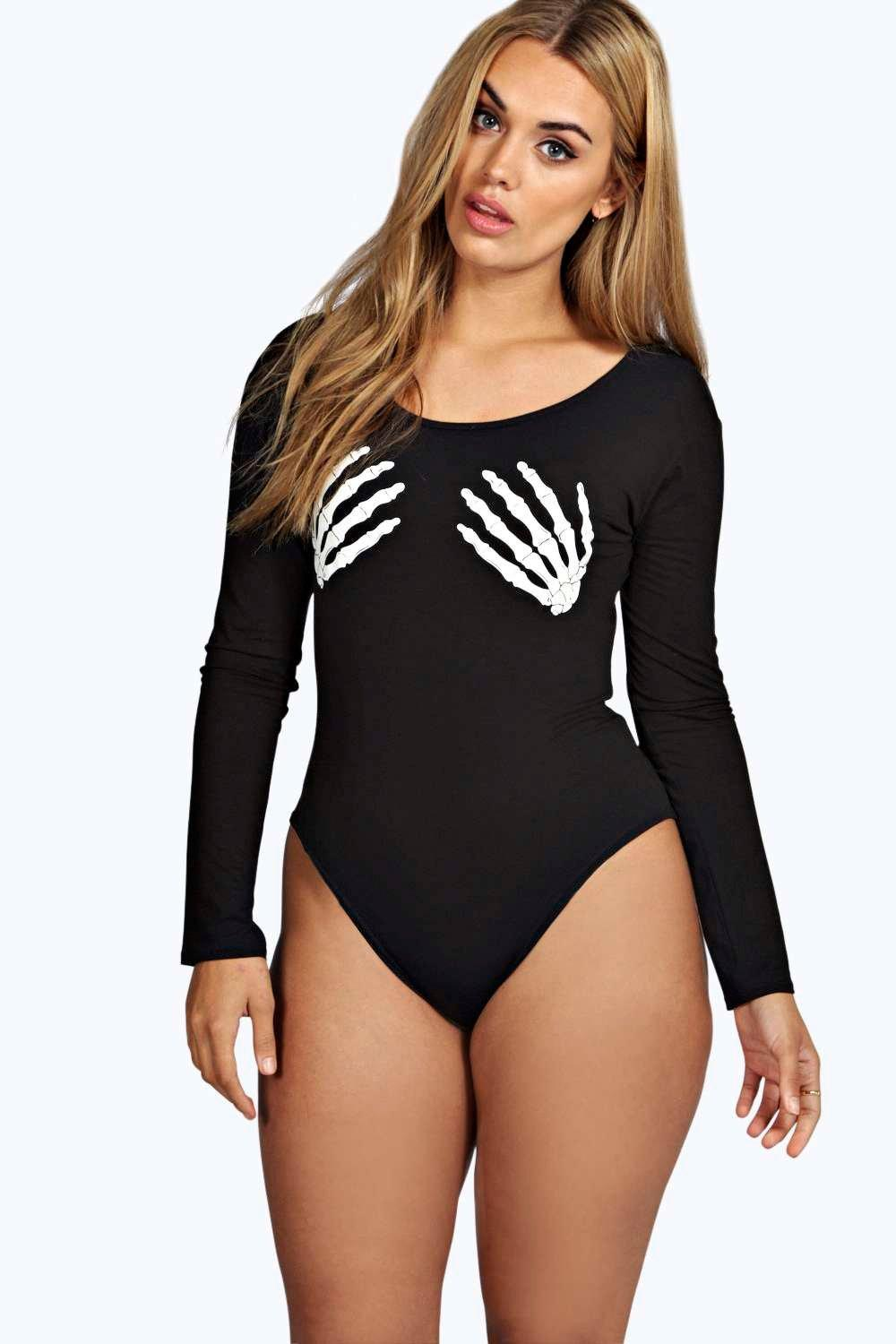 Plus Zoe Glow In The Dark Skeleton Halloween Body