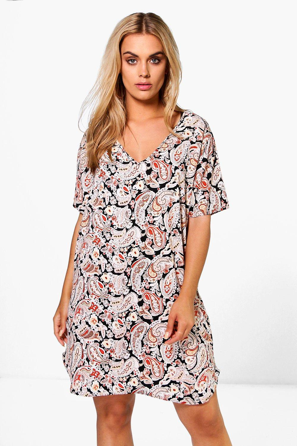 Plus Martha Paisley Print Shift Dress