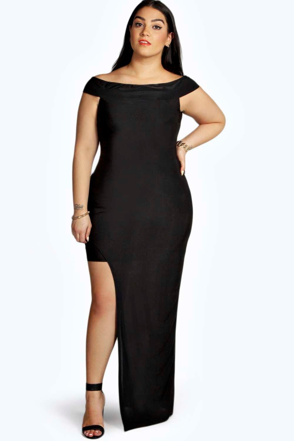 Plus Nadia Asymmetric Maxi Dress at boohoo.com