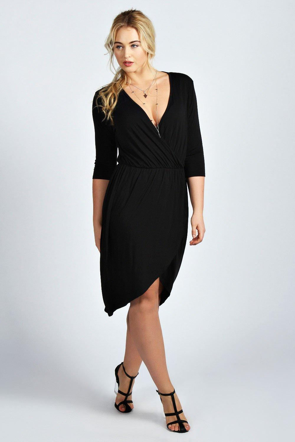 Plus Katie Wrap Front Dress