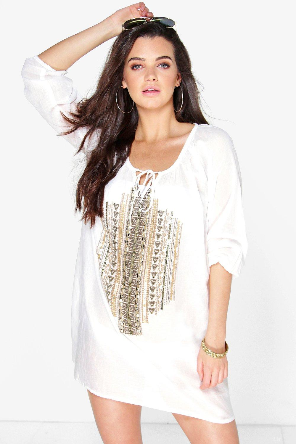 Emilia Embellished Detail Beach Cover Up