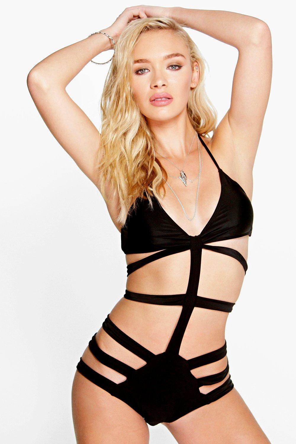 Inoa Multi Strap Halter Neck Swimsuit