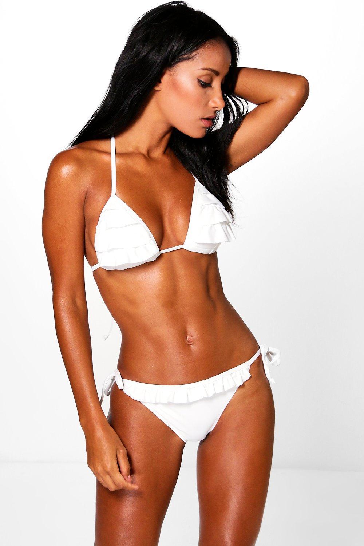 Beziers Ruffle Triangle Bikini at boohoo.com