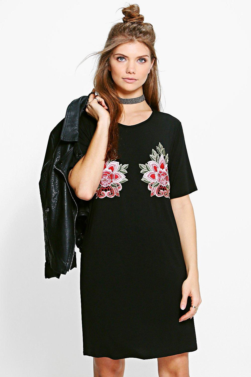 Tall Nina Premium Applique T-Shirt Dress
