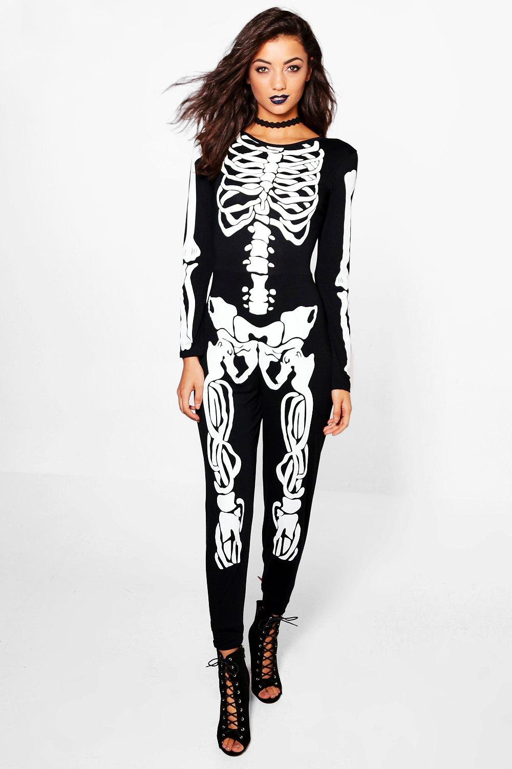 Tall Halloween Skeleton Jumpsuit