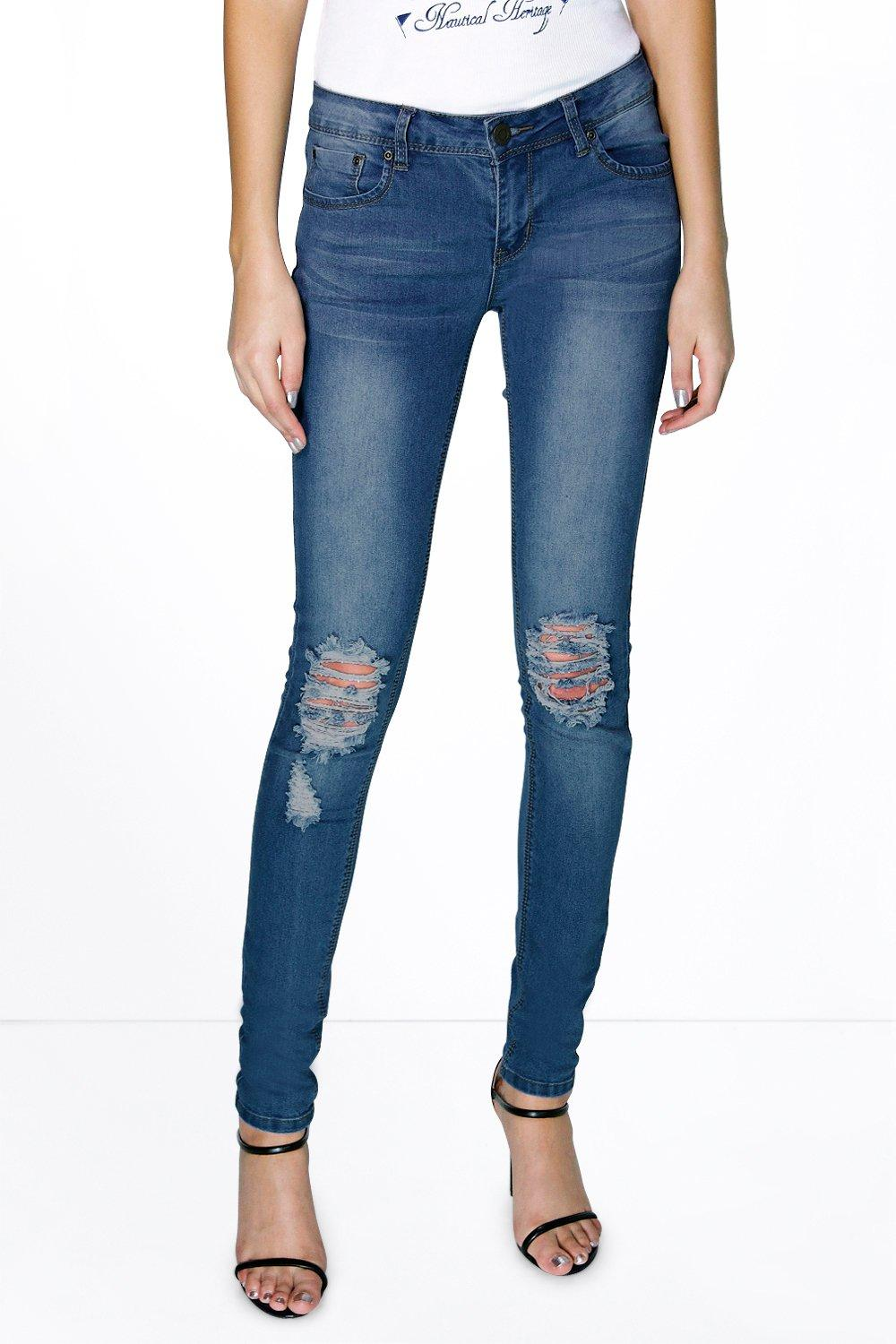 Tall Elle Knee Ripped Skinny Jean