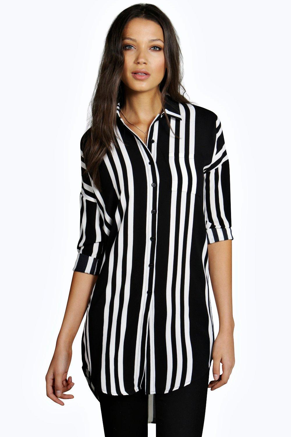 Tall Maud Stripe Woven Oversized Shirt