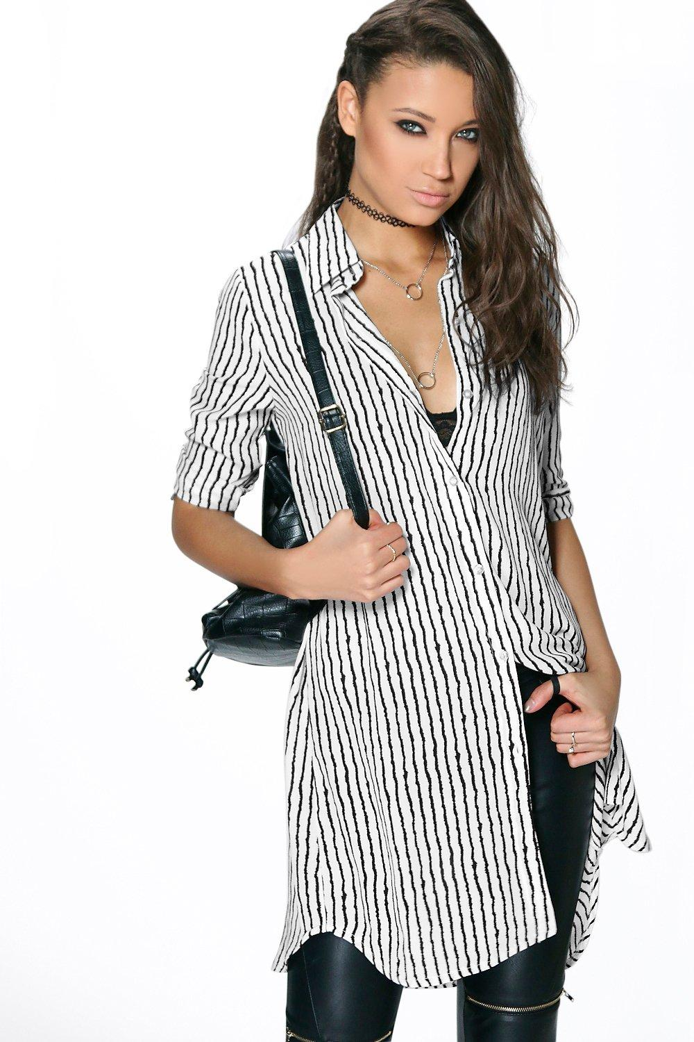 Tall Monique Stripe Woven Shirt