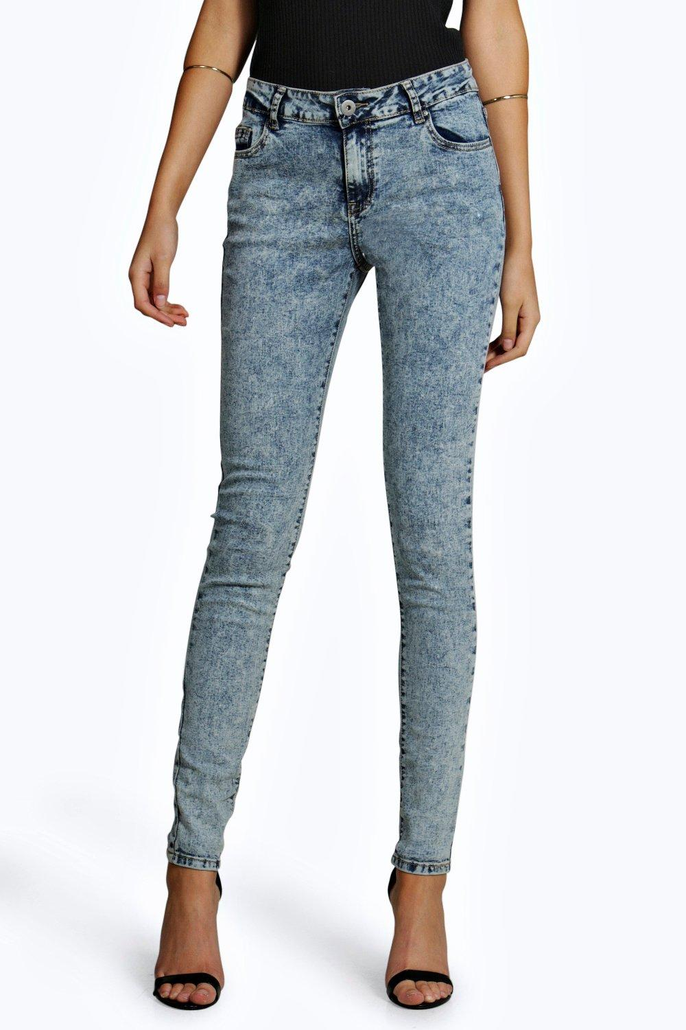 Tall Luella Acid Wash Denim Jeans