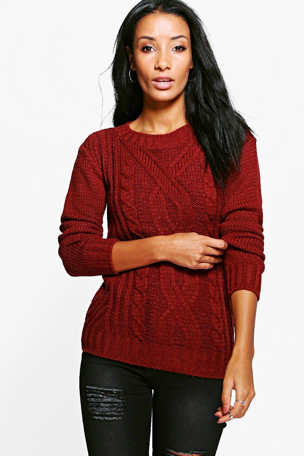 Hannah Cable Knit Marl Chunky Jumper