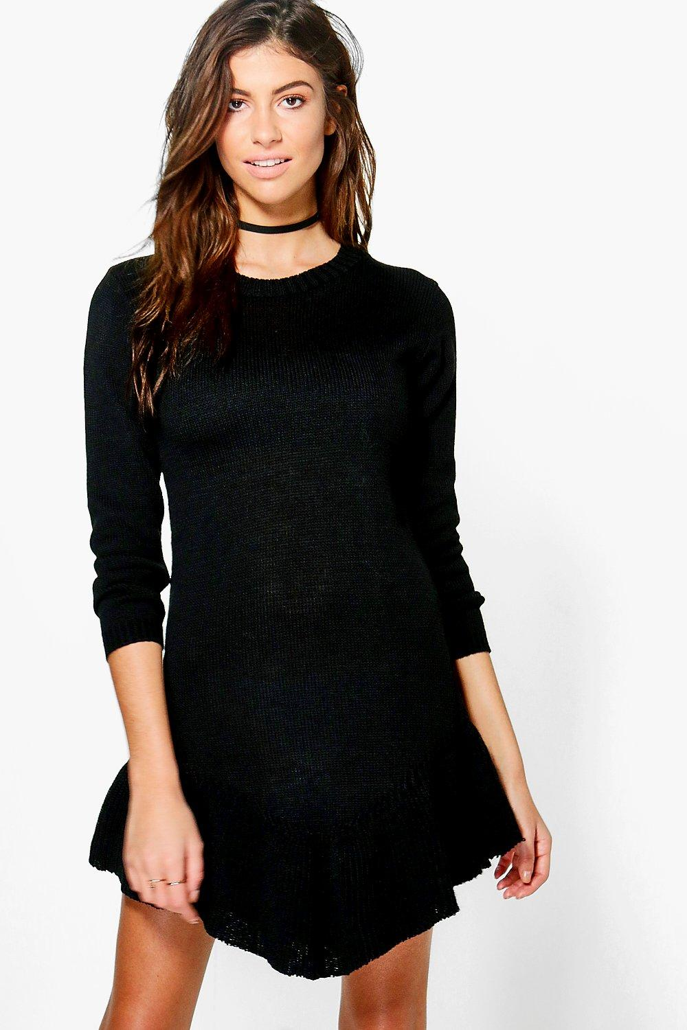 Abigail Ruffle Hem Jumper Dress