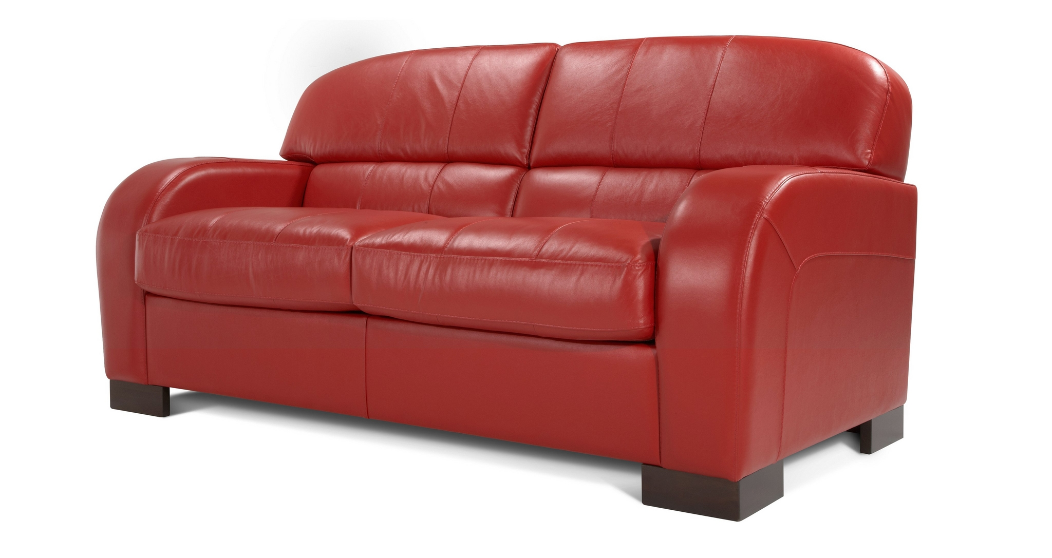 Dfs Leather Sofa Bed New Blaze Enzo Red 2 Seater Sofa Ebay