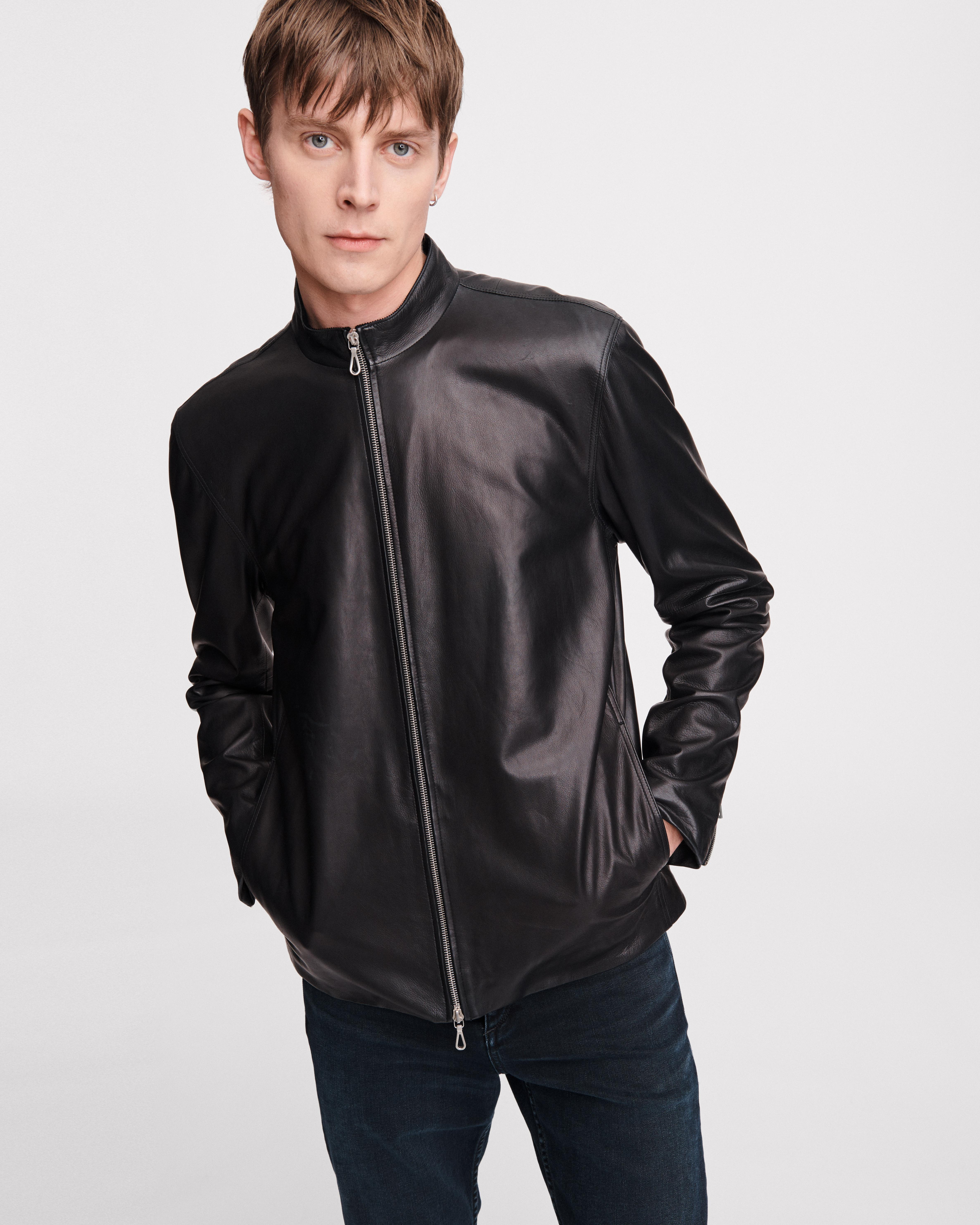 leather AGNES JACKET